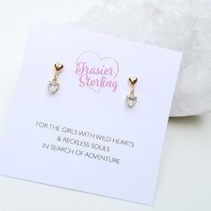 Dainty Heart Stud Earring